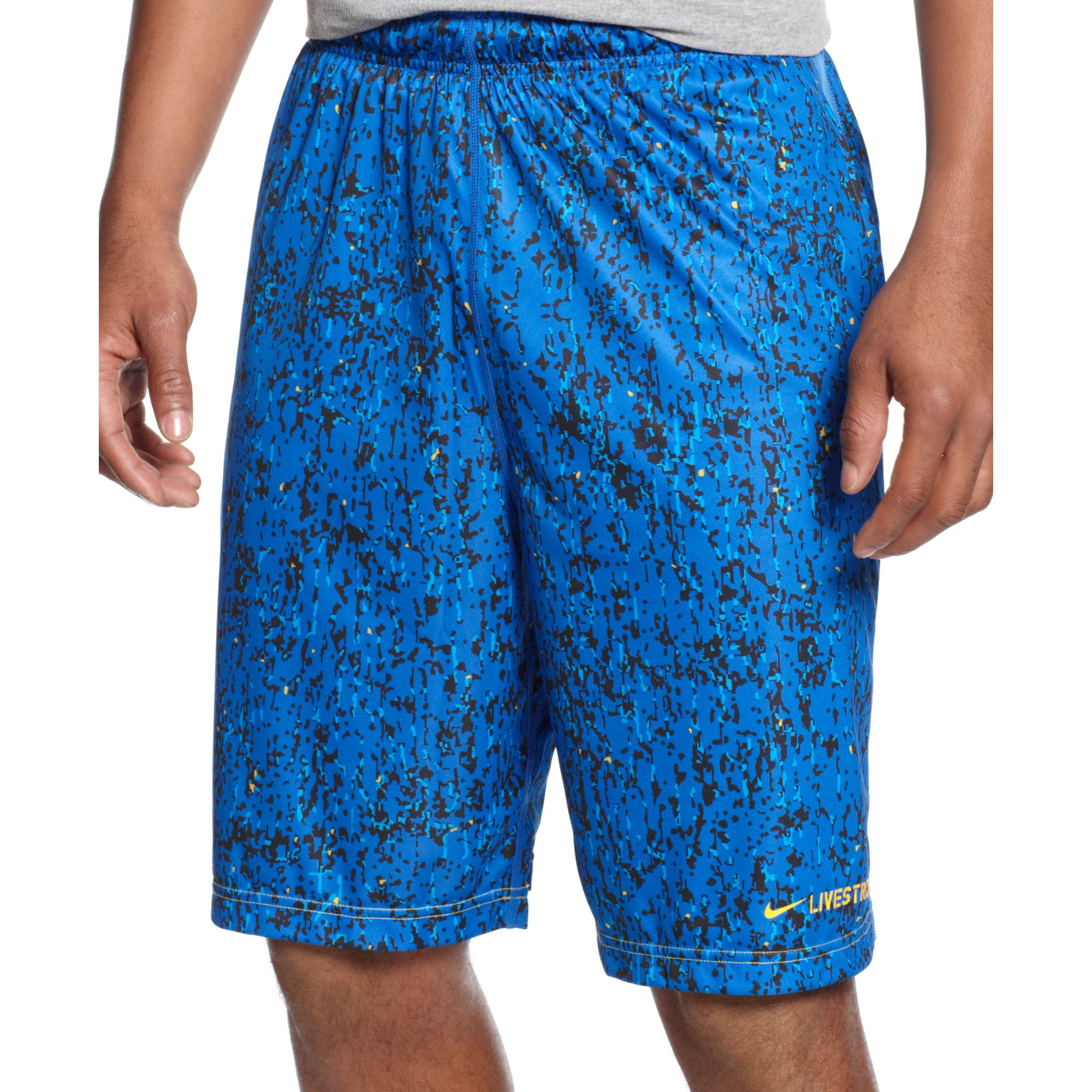 Lyst - Nike Livestrong Dna Camo Fly Drifit Shorts in Blue for Men 01c447114
