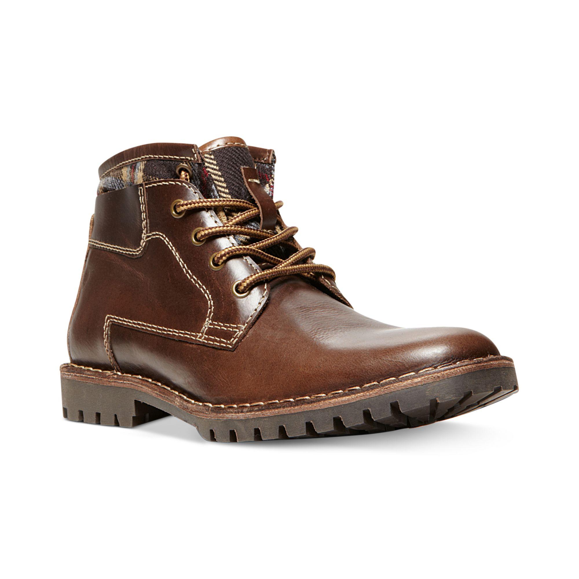 steve madden nickkel boots in brown for brown