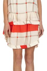 Thakoon Addition Ruffled Tiered Bottom Check Dress - Lyst