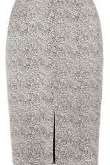 Whistles Animal Jacquard Pencil Skirt - Lyst