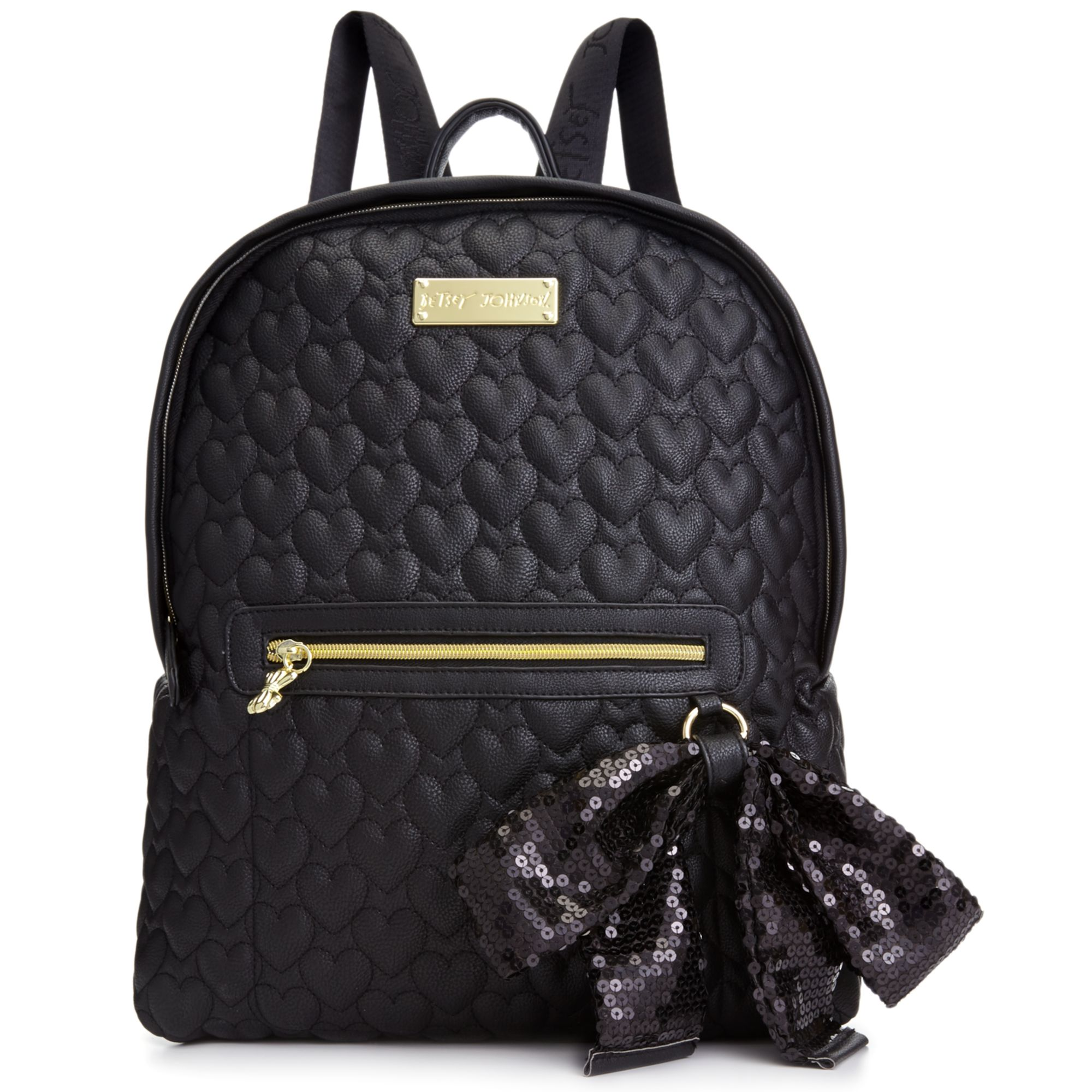 Betsey Johnson Quilted Love Backpack In Black Lyst