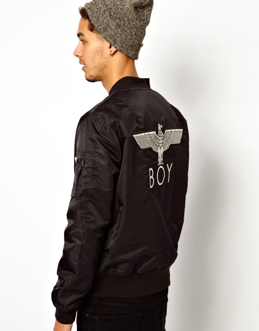 Lyst Boy London Reversible Ma1 Bomber Jacket In Black For Men
