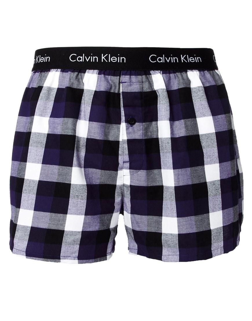 calvin klein woven boxers in black for men lyst. Black Bedroom Furniture Sets. Home Design Ideas