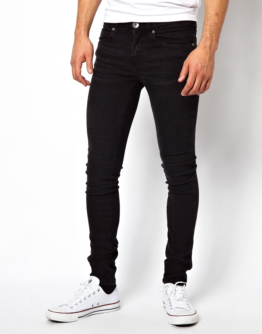 Dr. denim Snap Skinny Jeans In Black Used - Black in Black for Men