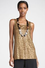 Eileen Fisher Sleeveless Sequin Tunic - Lyst