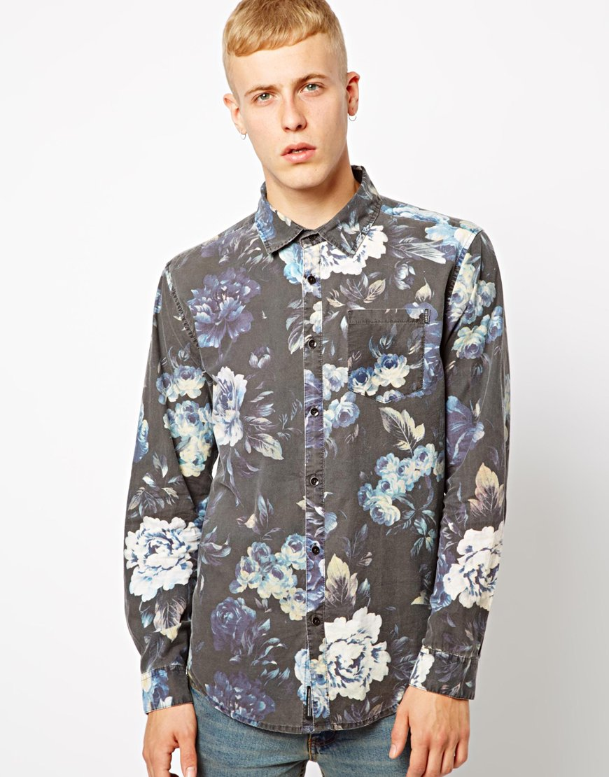 Insight Shirt Floral Print In Blue For Men Lyst