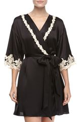 La Perla Maison Embroidered Short Robe - Lyst