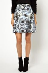 Vanessa Bruno Athé Louise Amstrup Skirt in Rock Printed Silk - Lyst