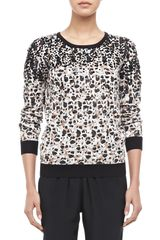 Marc By Marc Jacobs Isa Sequined Printed Sweater - Lyst