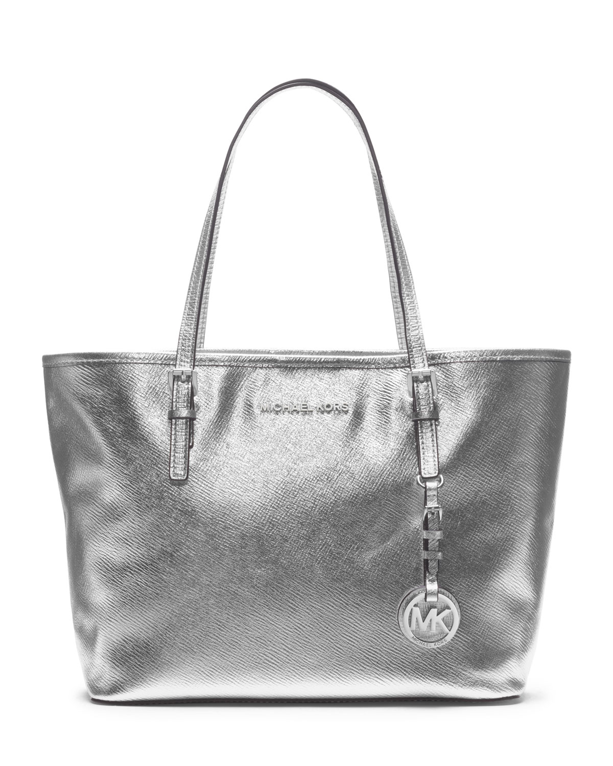 Michael By Michael Kors Silver Small Jet Set Travel Tote Product