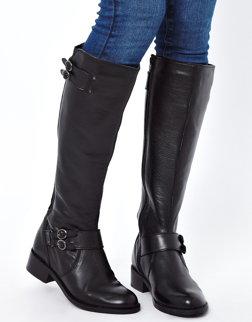miss kg beatrice leather boots in black lyst