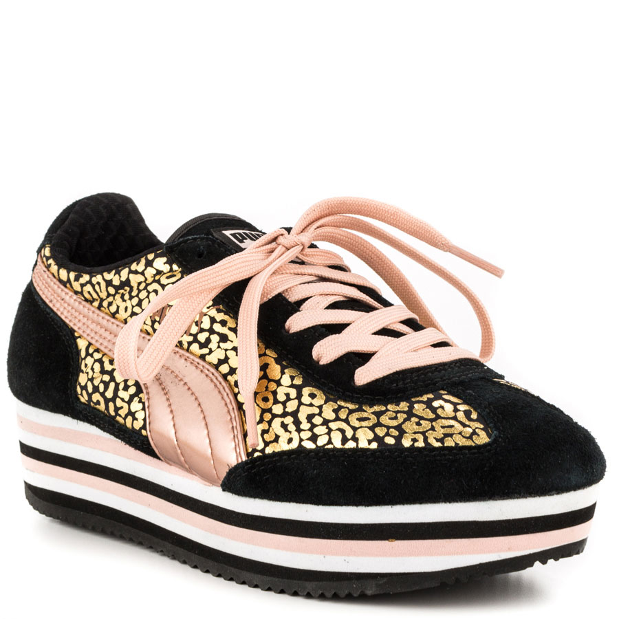 Puma Sf77 Rose Gold Platform Sneakers