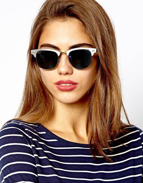 Ray Ban Clubmaster Sunglasses Black And Silver