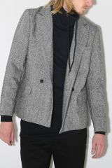 A.ok Double Breasted Blazer Tweed - Lyst