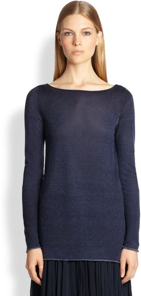 Donna Karan New York Long Sleeve Cashmere Top - Lyst