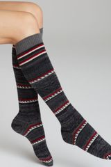 Hue Winter Fairisle Knee Socks - Lyst