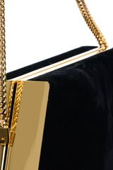 Saint Laurent Diagonal Suede Minaudière Clutch - Lyst