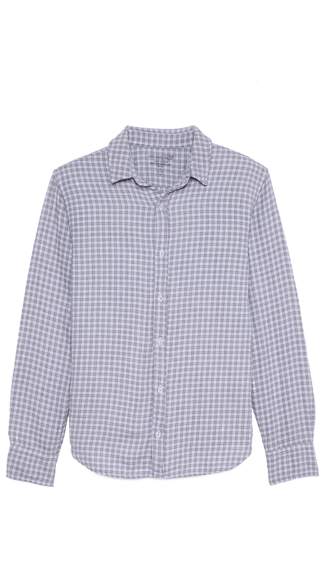 Lyst save khaki clean flannel shirt in blue for men for How to wash flannel shirts