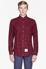 Thom Browne Plaid Shirt - Lyst