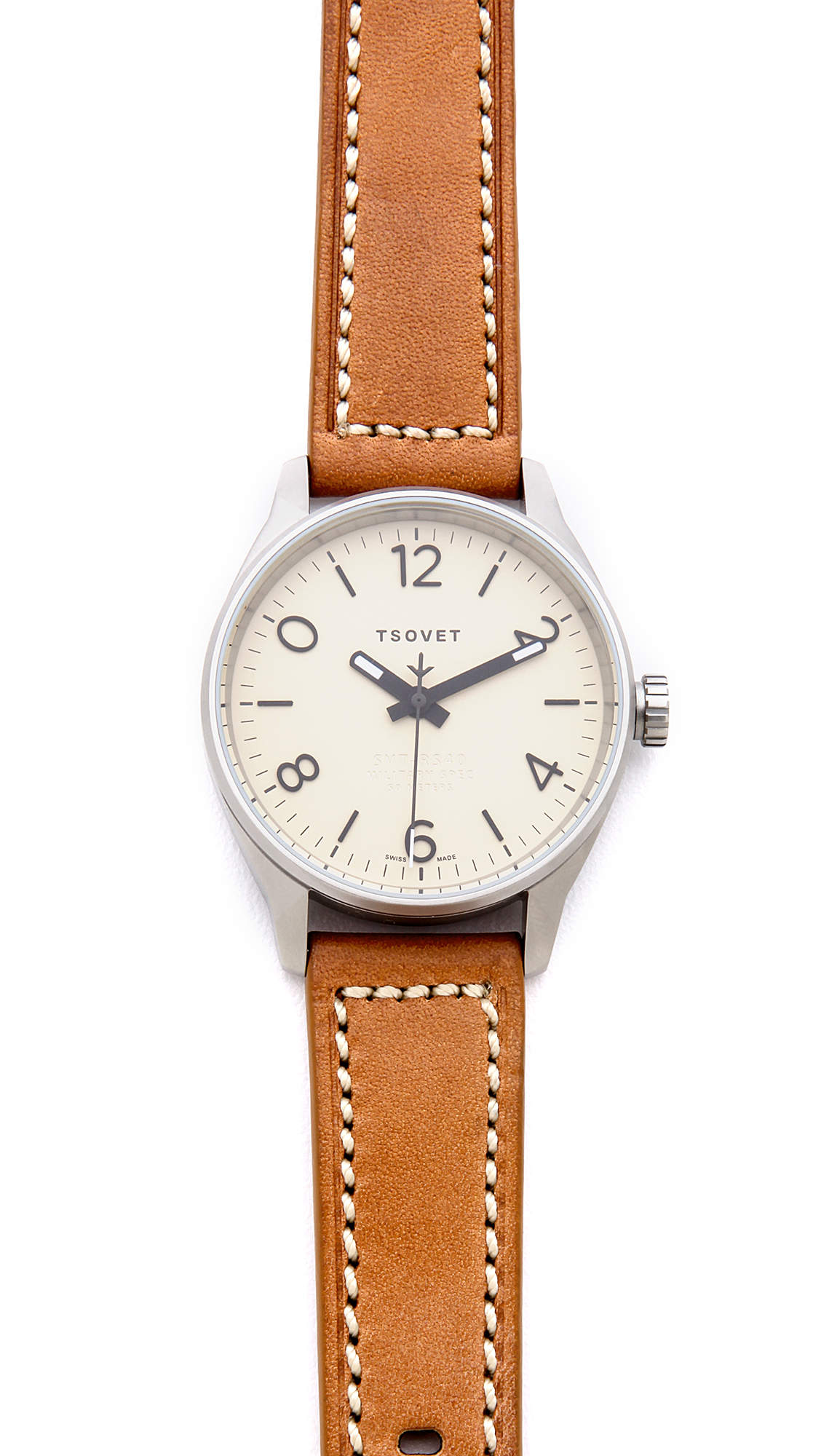 Tsovet svt rs40 40mm watch in brown for men lyst for Watches 40mm