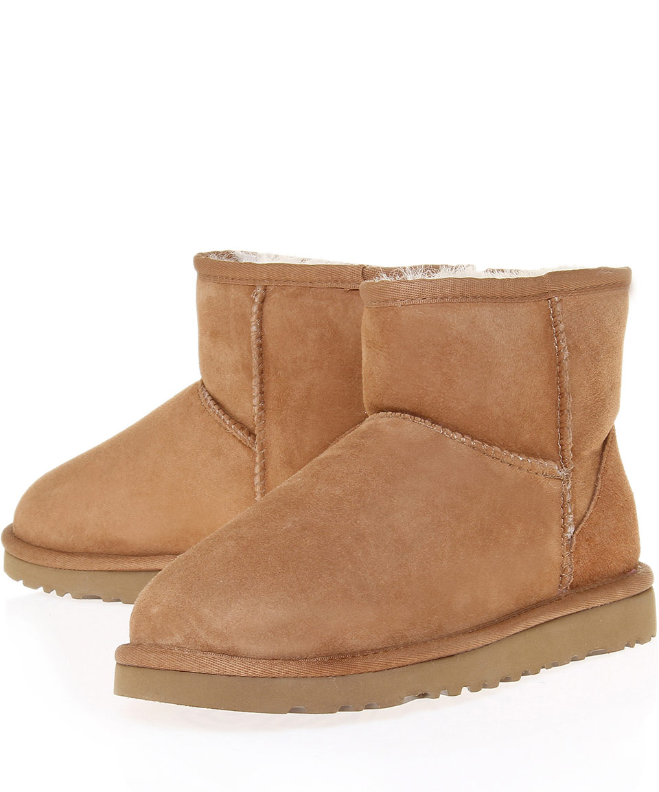 ugg chestnut classic mini sheepskin boots in brown lyst. Black Bedroom Furniture Sets. Home Design Ideas