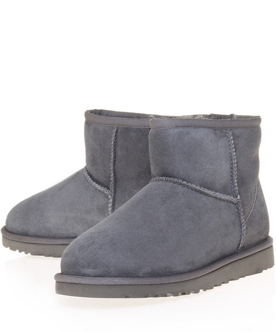 ugg classic mini ankle boots grey