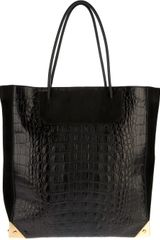 Alexander Wang Crocodile Embossed Shopper Tote - Lyst