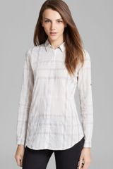 Burberry Brit Check Button Down Shirt - Lyst