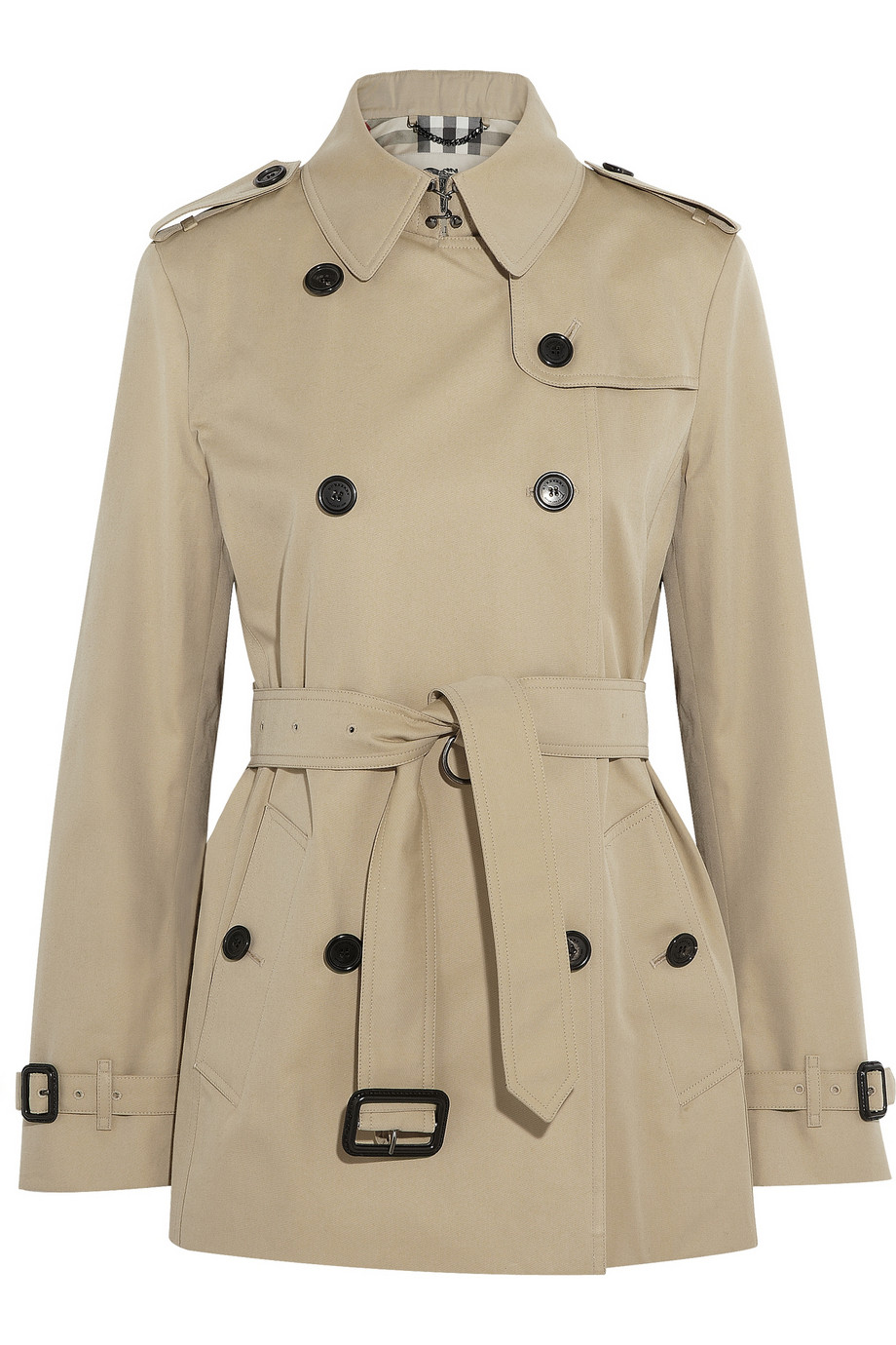The ladies trench coat—truly, this is a wear it everywhere look that no lady of style should have to live without! The trench is a coat style worn equally well by men and women, yet it is a design that has special charm as a women's jacket.