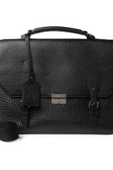 Burberry Shoes & Accessories Textured Leather Messenger Bag - Lyst