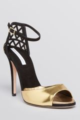 Diane Von Furstenberg Platform Evening Sandals Rowan High Heel - Lyst