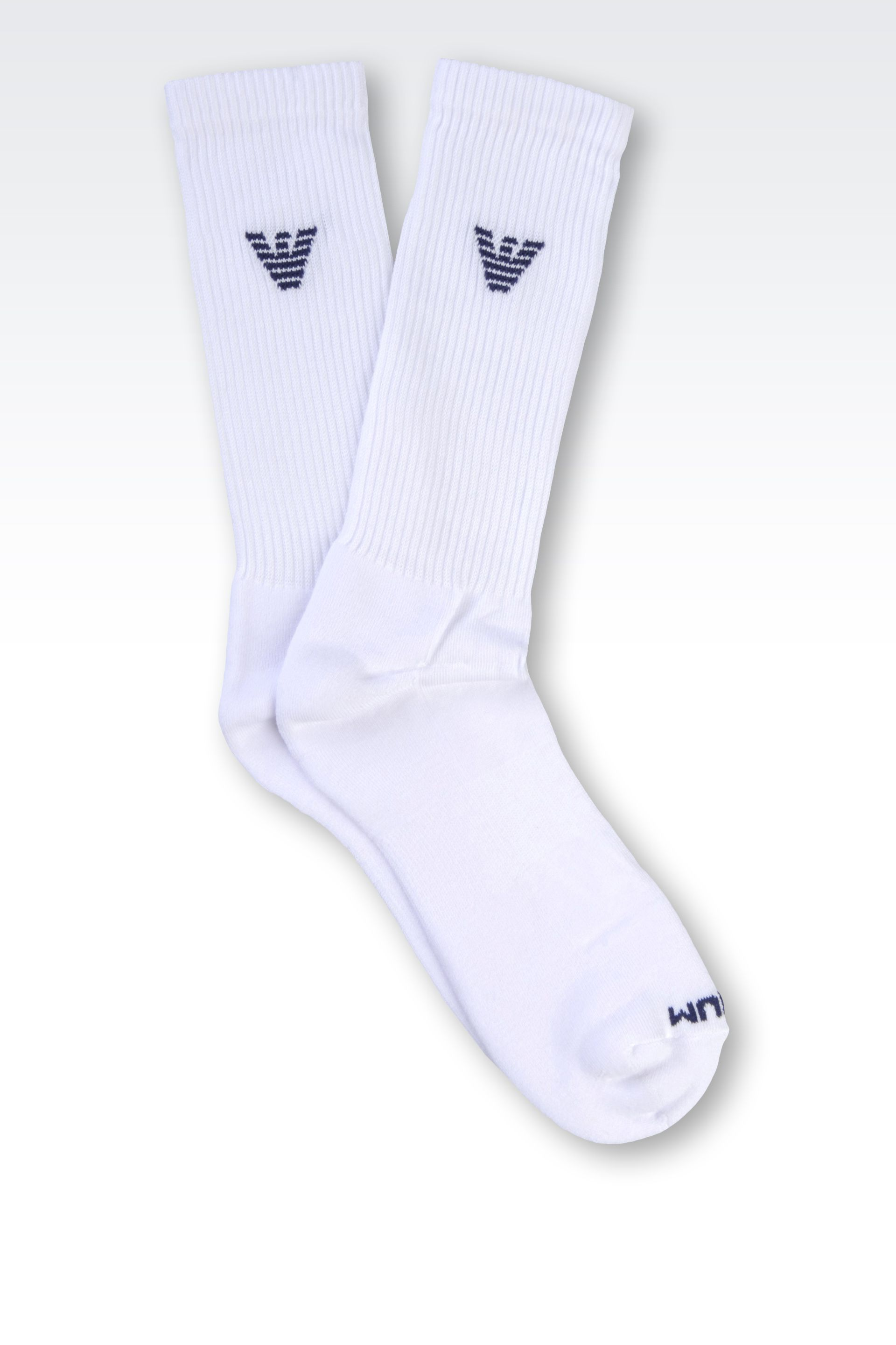 Lyst Emporio Armani Short Socks In White For Men