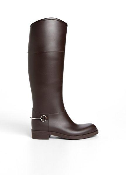 Luxury Gucci Women39s Purple Flat Rain Boots  12541577  Overstockcom