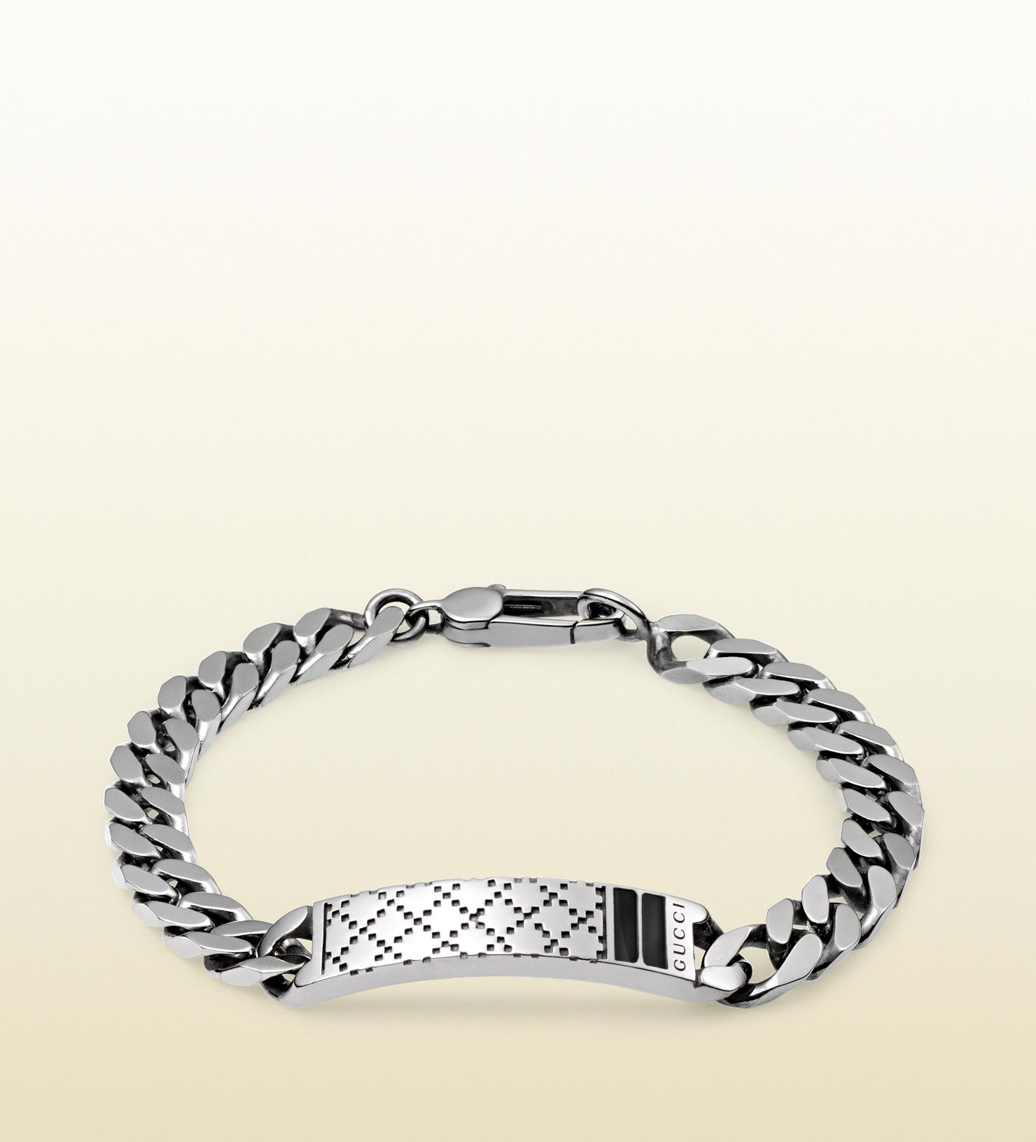 gucci diamantissima bracelet in sterling silver in silver