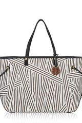 Henri Bendel Disturbed Stripe Xl Ew Tote - Lyst