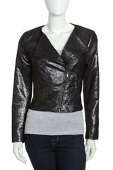 Laundry By Shelli Segal Motorcycle Jacket  - Lyst