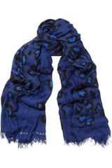 Marc By Marc Jacobs Sasha Leopardprint Modal and Cashmereblend Scarf - Lyst