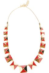 Marc By Marc Jacobs Pyramid Stud Necklace - Lyst