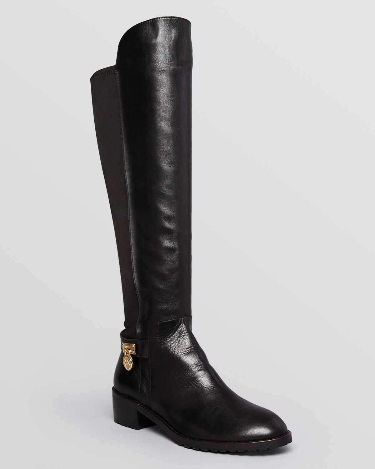 230b3f89a956 Lyst - MICHAEL Michael Kors Stretch Boots Hamilton in Black