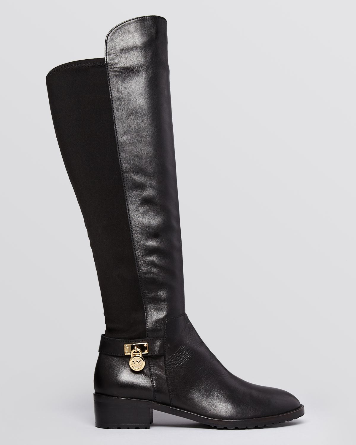 Michael michael kors Stretch Boots Hamilton in Black | Lyst