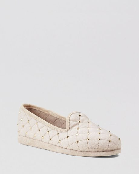 michael michael kors smoking slippers quin studded moc in. Black Bedroom Furniture Sets. Home Design Ideas