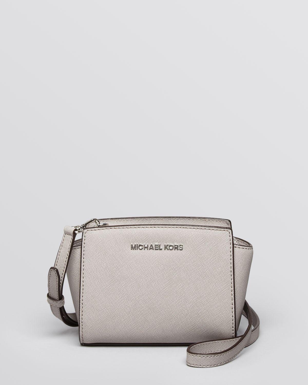 6723aa69a9 Lyst - MICHAEL Michael Kors Mini Selma Crossbody in White