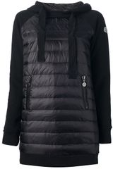 Moncler Padded Hooded Sweatshirt - Lyst