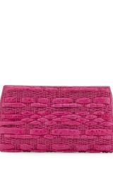 Nancy Gonzalez Woven Crocodile Python Clutch Bag Pink - Lyst