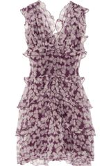 Nina Ricci Ruffled Butterflyprint Silkorganza Dress - Lyst