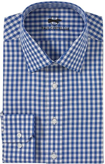 Paul Costelloe Blue Check Shirt - Lyst