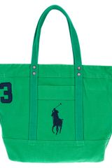 Polo Ralph Lauren Logo Shopping Bag - Lyst