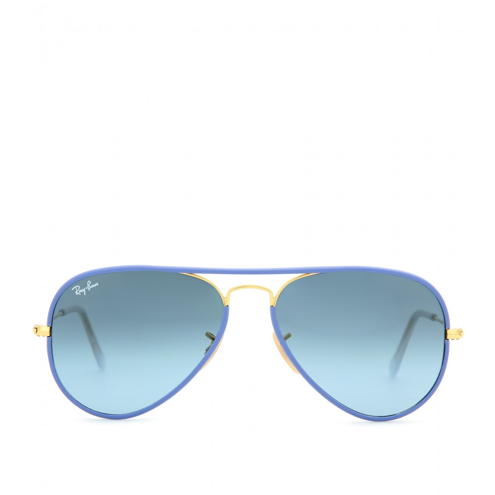 aviator ray ban sale  Ray-ban Aviator Full Color 55 Sunglasses in Blue