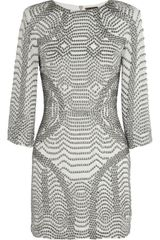 Sass & Bide Here Now Beaded Silk Mini Dress - Lyst