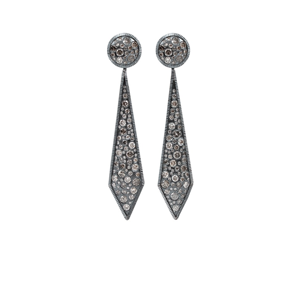 Todd Reed Geometric Diamond Pave Earrings In Metallic Lyst
